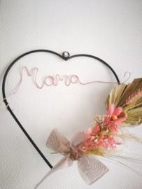 Flower hoop moederdag hart vorm