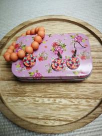 Oranje vlinder set