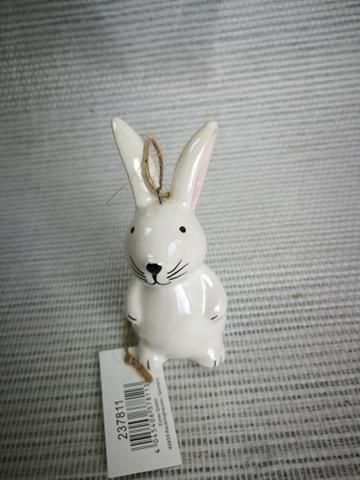 Keramisch konijn hangdeco paasboom