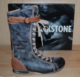 BLACKSTONE - stoere zwart leren laarzen