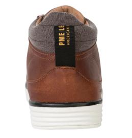 PME Legend - Cognac leren Darren mid sneakers