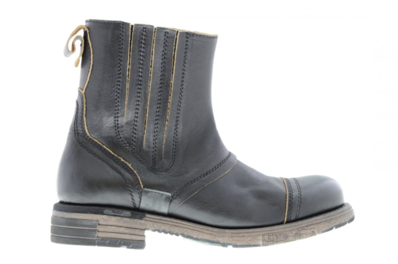 Yellow Cab biker boot black