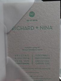 Trouwkaart op Eco karton