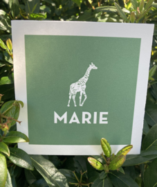 Girafje in reliefdruk