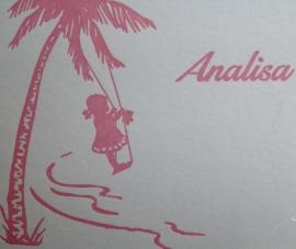 Palmboom met schommel