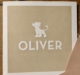 Welpje letterpress met preeg