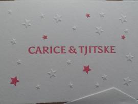 Tweelingkaart met sterren