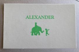 Olifantje letterpress