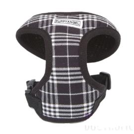 Puppy Angel London calling Soft vest harness set, black