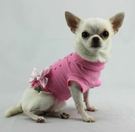 Lella Su honden Tshirt Lucrezia, Pink