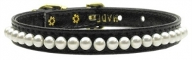 Puppy hondenhalsband Parel Zwart