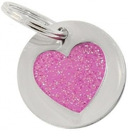 K9 by Igloo ID Tag Glitter Heart MINI