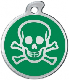 Misstoro penning Skull and Bones Fun Green
