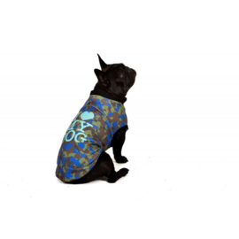 I Love My Dog Honden sweatshirt Camu Blue