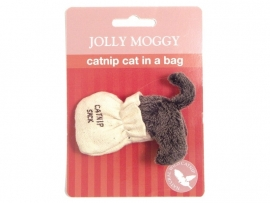 Jolly Moggy Cat in a Bag