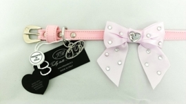 Trilly tutti Brilli Hondenhalsband  Lia, Baby Roze, Maat 25 cm
