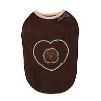 Puppy Angel Rosha in pearly heart sleeveless, bruin, Maat M