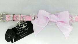 Trilly tutti Brilli Hondenhalsband  Carola, Baby Roze, Maat 25 cm