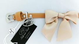 Trilly tutti Brilli Hondenhalsband Tina, Beige, Maat 25 cm