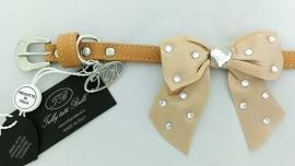 Trilly tutti Brilli Hondenhalsband  Lia, Beige, Maat 25 cm