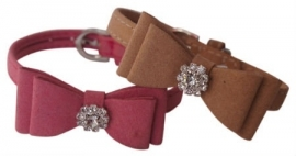 PetLondon hondenhalsband Suede Bow Collar