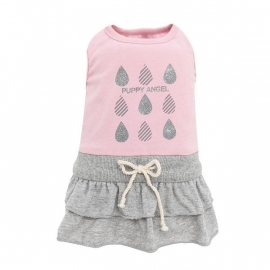 Puppy Angel Raindrop Skirt Dress, roze