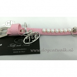 Trilly tutti Brilli Hondenhalsband Lily, Roze  Maat 20 cm
