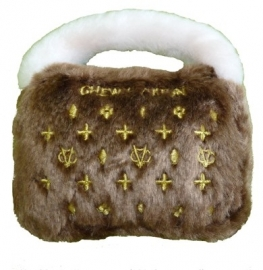 Dog Diggin Designs Chewy Vuiton Purse Brown