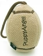 Puppy Angel Rugby Ball Toy, Beige