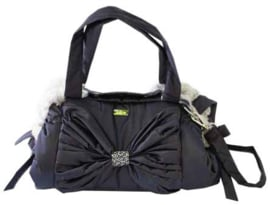 Mon Bonbon hondentas Toronto Bag Small, Black & Dawn