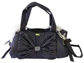 Mon Bonbon hondentas Toronto Bag Small, Black & Dawn