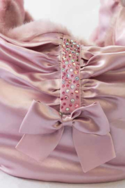 Mon Bonbon schoudertas Madrid Bag met Pink pels
