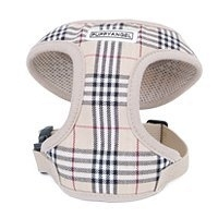 Puppy Angel Basic Soft London calling vest harness set, beige