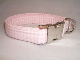 Swanky Pet Hondenhalsband Pink Plaid