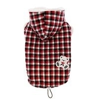 Puppy Angel Two way teddy fleece jacket, red, Maat 2XL en 3XL