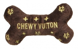 Dog Diggin Designs Chewy Vuiton Bone, Small