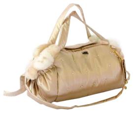 Mon Bonbon hondentas Montreal Bag Big, Gold & White Beige