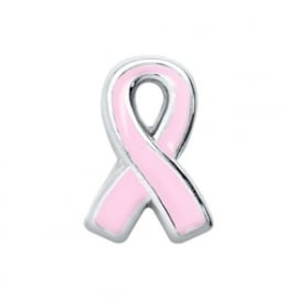 Floating Locket Charm voor Pink Ribbon