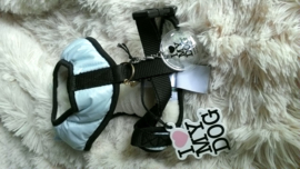 I Love My Dog Hondenharnas Glambow Warm Blue, Maat M en L