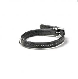 Vintage Strass halsband, enkele strass zwart