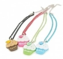 Puppy Angel Sweet Cupcake Necklace