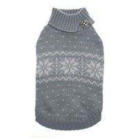 Puppy Angel Snowflake rhinestone sweater, Blue, Maat XS