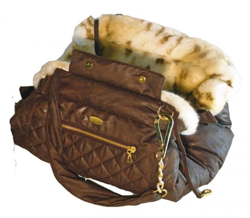 Mon Bonbon Zip Bag, Bruin