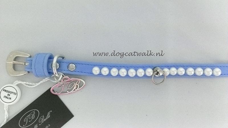 Trilly tutti Brilli Hondenhalsband Lily, Licht blauw