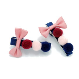set PRETTY POMPOM PINK BOW