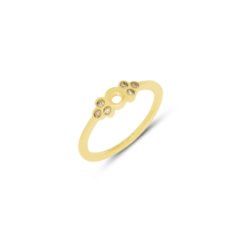 'Thera' Champagne ring - Twisted