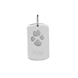 Zilver dog tag pootafdruk (AP 005 A) vanaf €195,00