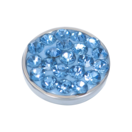 iXXXi Top Part Light Sapphire Stone - zilver