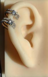 Karma earcuff - double line zirkonia