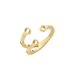 'Trio stone' ring - Twisted